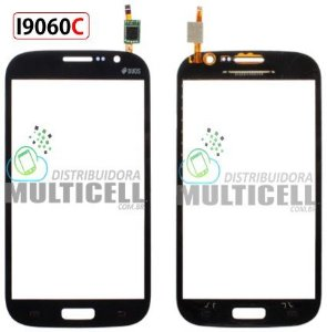 TELA TOUCH SCREEN SAMSUNG I9060I I9060C GALAXY GRAND DUOS PRETO 1ªLINHA AAA