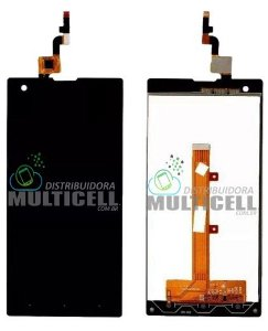 GABINETE FRONTAL DISPLAY LCD TELA POSITIVO X800 OCTA CORE PRETO 1ªLINHA QUALIDADE AAA