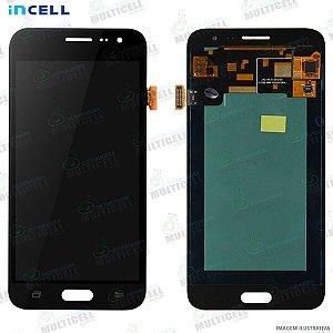 GABINETE FRONTAL DISPLAY LCD MODULO COMPLETO SAMSUNG J320 GALAXY J3 2016 PRETO 1ªLINHA (QUALIDADE INCELL)