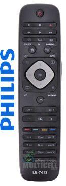 CONTROLE REMOTO TV LCD LED PHILIPS SKY-7413 REM-8044 7081 7809 1ªLINHA