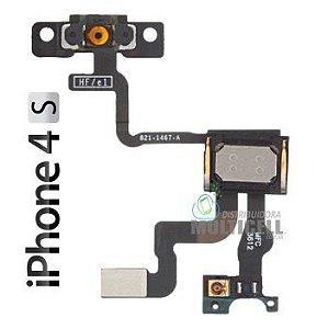 FLEX POWER ON OFF E ALTO FALANTE AURICULAR  APPLE A1387 821-1467-A IPHONE 4S 1ªLINHA AAA