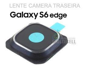 LENTE VIDRO CAMERA TRASEIRA SAMSUNG G925 GALAXY S6 EDGE AZUL BLUE ORIGINAL