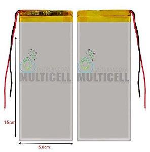 "BATERIA PARA TABLET MULTILASER 7"" (15 X 5,8cm)  4000mAh 3.7v ORIGINAL"