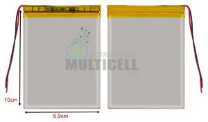 "BATERIA PARA TABLET MULTILASER TEC TOY LENOXX NAVICITY DL CCE 7"" (10 X 6,9cm)  2800mAh 3.7v  3570100 ORIGINAL"