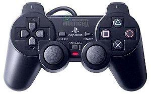 CONTROLE PS2 PLAYSTATION 2 PRO-50 PRETO QUALIDADE GOLD