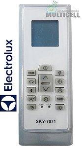 CONTROLE DE AR CONDICIONADO SPLIT ELECTROLUX RG01 BGEF ELBR SKY-7071
