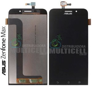 GABINETE FRONTAL MODULO COMPLETO TOUCH SCREEN DISPLAY LCD ASUS ZC550KL ZENFONE MAX PRETO ORIGINAL