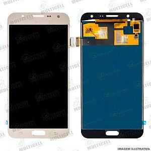 GABINETE FRONTAL LCD MODULO COMPLETO SAMSUNG J700 GALAXY J7 DOURADO 1ªLINHA (TFT COM BRILHO AJUSTAVEL)