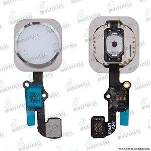 FLEX TECLA BOTAO HOME APLLE PHONE 6S / IPHONE 6S PLUS BRANCO 1ªLINHA (QUALIDADE PREMIUM)