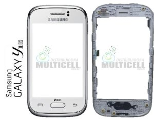TOUCH SCREEN SAMSUNG S6312 S6313 GALAXY YOUNG COMPLETO COM ARO  ORIGINAL