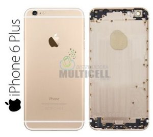 CARCAÇA CHASSI TAMPA TRASEIRA APPLE A1549 IPHONE 6 PLUS 5.5'' DOURADA GOLD 1ªLINHA AAA
