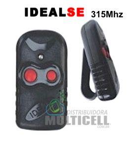 CONTROLE CLIP CORTE DE TRILHA 315Mhz MODELO 2105 PRETO IDEAL