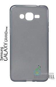 CAPA CASE DE SILICONE SUPER FINA CASCA DE OVO FUME SAMSUNG G530 G531 GALAXY GRAND PRIME