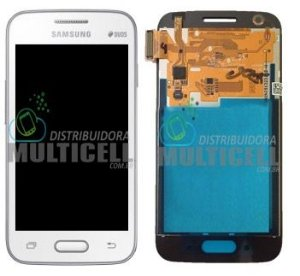 GABINETE FRONTAL LCD SAMSUNG G313 G313H ACE 4 DUOS BRANCO ORIGINAL