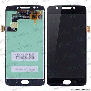 GABINETE FRONTAL DISPLAY LCD MOTOROLA XT1670 XT1671 XT1672 XT1676 MOTO G5 PRETO 1ª LINHA (QUALIDADE AAA)