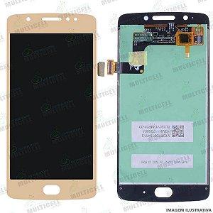 GABINETE FRONTAL DISPLAY LCD MOTOROLA XT1670 XT1671 XT1672 XT1676 MOTO G5 DOURADO 1ª LINHA (QUALIDADE AAA)