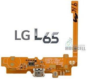 CABO FLEX CONECTOR DE CARGA E MICROFONE LG D285 L65 1ªLINHA AAA