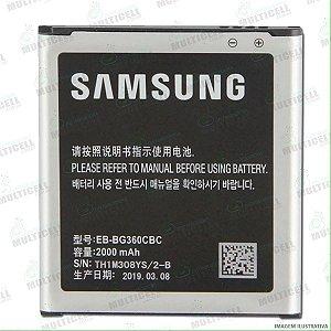 BATERIA SAMSUNG SM-G360 G360 G361 J200 GALAXY J2 EB-BG360BBC / EB-BG360CBE 1ªLINHA QUALIDADE AAA