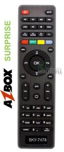 CONTROLE REMOTO PARA RECEPTOR DIGITAL AZBOX SURPRISE HD / THUNDER / BRAVÍSSIMO PLUS SKY-7478 1ªLINHA
