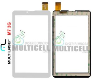 TELA TOUCH SCREEN MULTILASER M7 3G NB 162 NB162 BRANCO ORIGINAL
