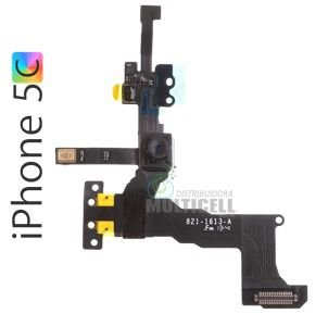 FLEX CAMERA FRONTAL SENSOR DE PROXIMIDADE APPLE A1507 A1532 A1529 IPHONE 5C 1ªLINHA AAA