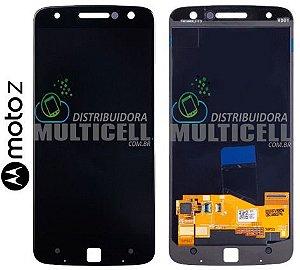 GABINETE FRONTAL MODULO COMPLETO LCD DISPLAY TOUCH SCREEN MOTOROLA XT1650 MOTO Z PRETO ORIGINAL