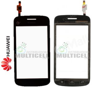 TELA VIDRO TOUCH SCREEN HUAWEI Y310 ASCEND PRETO ORIGINAL
