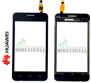 TELA VIDRO TOUCH SCREEN HUAWEI Y330 ASCEND PRETO ORIGINAL