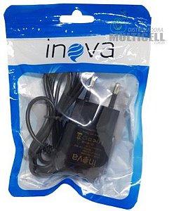 CARREGADOR MICRO USB V8 INOVA 2A PRETO