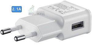FONTE TOMADA PAREDE USB CZK MODELO SAMSUNG BRANCA 5W 2.0A 1ªLINHA AAA