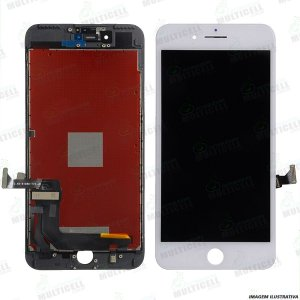 GABINETE FRONTAL DISPLAY LCD MODULO COMPLETO APPLE A1661 A1784 A1785 IPHONE 7 PLUS BRANCO 1ªLINHA QUALIDADE AAA