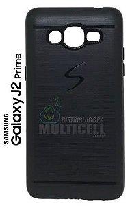 CAPA CASE DE SILICONE TPU TOP BLACK SAMSUNG G532 GALAXY J2 PRIME PRETA ESCOVADA