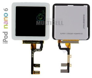 GABINETE FRONTAL LCD DISPLAY TOUCH SCREEN MODULO COMPLETO APPLE 821-1134-A IPOD NANO 6 BRANCO ORIGINAL