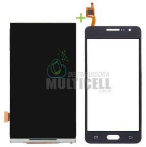 KIT COMBO DISPLAY LCD + TELA TOUCH SCREEN SAMSUNG G530 G531 PRETO CINZA 1ªLINHA AAA