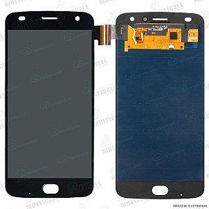 GABINETE FRONTAL LCD DISPLAY MODULO COMPLETO MOTOROLA XT1710 MOTO Z2 PLAY PRETO (ORIGINAL IMPORTADO OLED)