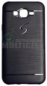 CAPA CASE DE SILICONE TPU TOP BLACK SAMSUNG G530 G531 J2 PRIME PRETA ESCOVADA