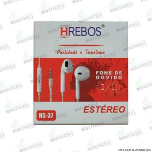 FONE DE OUVIDO P2 ESTÉREO HREBOS HS-37