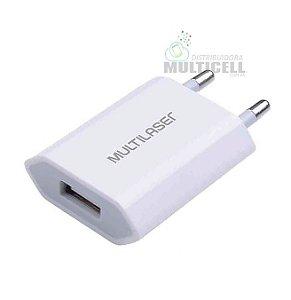 FONTE USB CARREGADOR DE PAREDE SMARTOGO 2.5A MULTILASER BRANCO