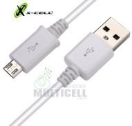 CABO MICRO USB V8 X-CELL REFORÇADO TRANSMITE CARGA E DADOS 1 MT BRANCO