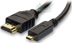 CABO HDMI PARA MINI MICRO USB V8 CELULAR TABLET TV 1,5 METROS