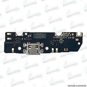 PLACA FLEX CONECTOR USB DOCK DE CARGA MICROFONE MOTOROLA XT1922 MOTO G6 PLAY 1ª LINHA (QUALIDADE AAA)