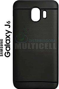 CAPA CASE DE SILICONE TPU TOP BLACK SAMSUNG J600 J600G GALAXY J6 PRETA ESCOVADA