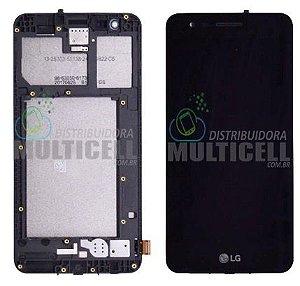 GABINETE FRONTAL LCD DISPLAY TOUCH SCREEN MODULO COMPLETO LG X230 K4 2017 PRETO 100% ORIGINAL