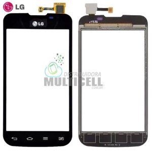 TELA TOUCH SCREEN LG E455 L5 II PRETO 100% ORIGINAL
