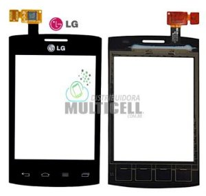 TELA TOUCH SCREEN LG E410 E415 L1 II DUAL PRETO 100% ORIGINAL
