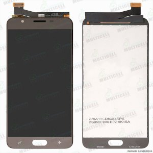 GABINETE FRONTAL DISPLAY LCD MODULO COMPLETO SAMSUNG G611 GALAXY J7 PRIME 2 MARROM 1ªLINHA QUALIDADE AAA