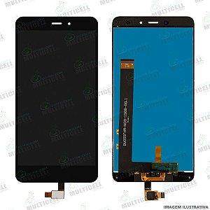 GABINETE FRONTAL DISPLAY LCD MODULO COMPLETO XIAOMI REDMI NOTE 4 MTK PRETO 1ªLINHA (QUALIDADE AAA)