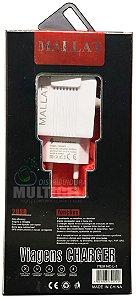 CARREGADOR CASA PAREDE MALLAT YSD-0915 4.1A SAMSUNG LG MOTOROLA ENTRADA V8 CARGA RAPIDA COM 2 ENTRADA USB EXTRA