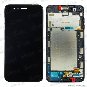 GABINETE FRONTAL DISPLAY LCD TELA TOUCH SCRENN MODULO COMPLETO X210 LG K9 PRETO 100% ORIGINAL