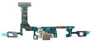 FLEX CONECTOR MICROFONE DOCK DE CARGA SENSOR TEC SAMSUNG G930V GALAXY S7 ORIGINAL (VERSÃO G930V)